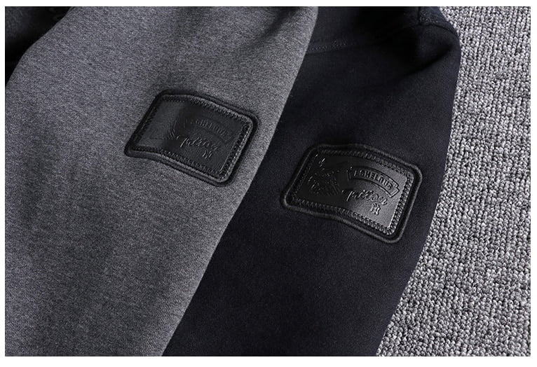 2019 new arrival Winter Plush warm simple embroidery youth Hoodie men's Pullover high quality plus XL handsome boy cool coats