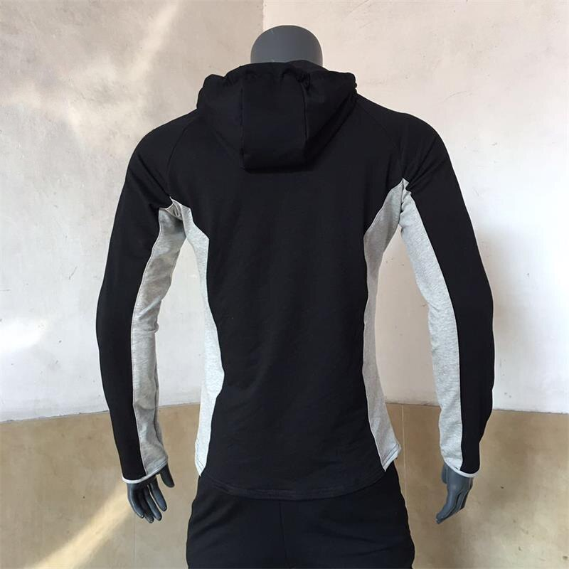 Men's Breathable Jacket Muscle Autumn and Winter Elastic Tights Jacket Men's Outdoor Sports Hooded Cardigan Running Windcheater