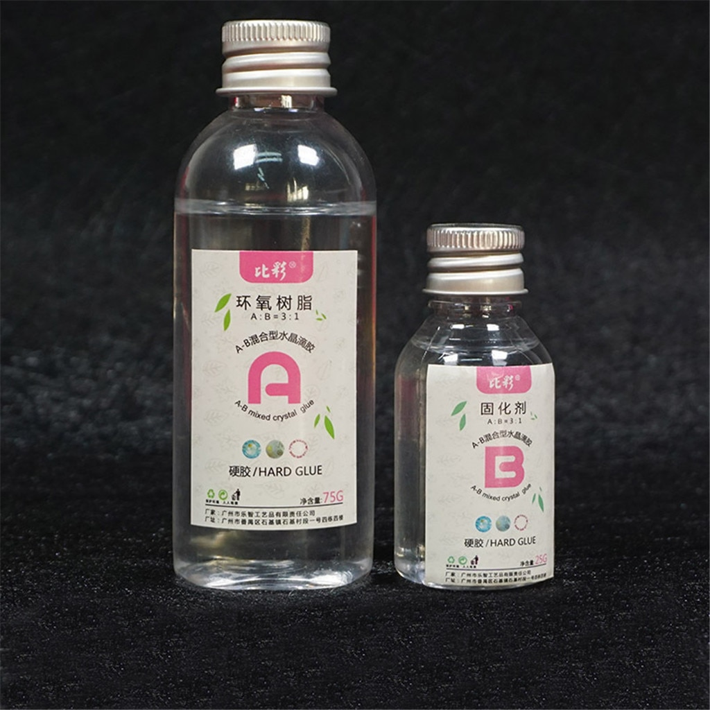 1 Set Clear Resin Epoxy High Adhesive 3:1 AB Crystal Glue Resin Jewelry Making Drop Ship 100ML L*5