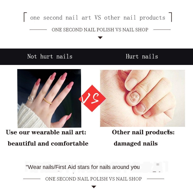 Nail Art Fake Nails Stiletto Tips Clear Press on Long False with Glue Coffin Stick Display Full Cover Artificial Designs Matte